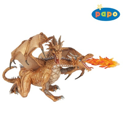Papo Two Headed Dragon Golden