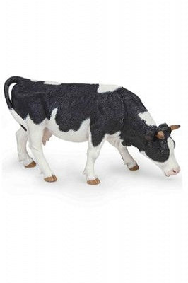 Papo Black And White Grazing Cow