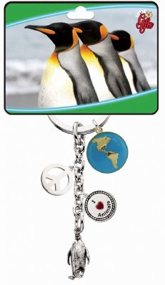 Penguin Wildlife Keychain