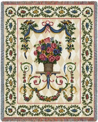 Floral Majesty Tapestry (Tapestry Throw)