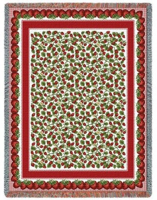 Strawberry Festival (Tapestry Throw)
