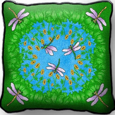 Dancing Dragonfly Pillow (Pillow)