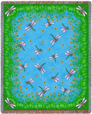 Dancing Dragonfly Tapestry (Tapestry Throw)