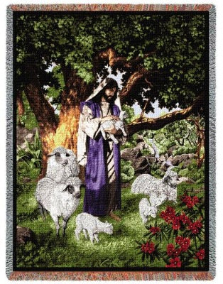 Psalm 23 Tapestry (Tapestry Throw)