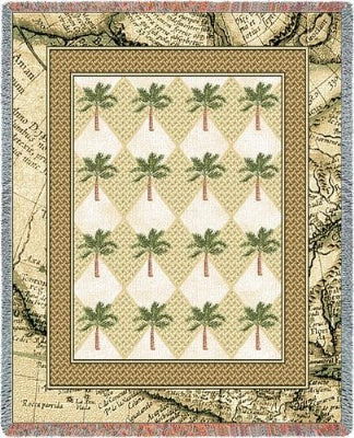 Colonial Palms (Tapestry Throw)