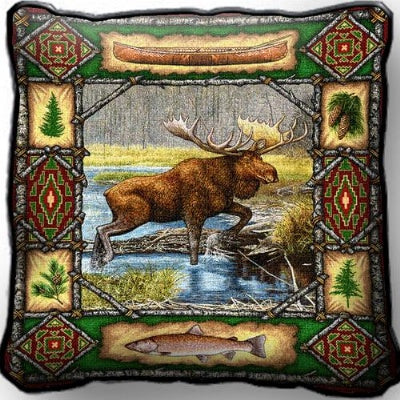 Moose Lodge Pillow (Pillow)