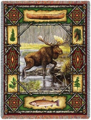 Moose Lodge Tapestry (Tapestry Throw)