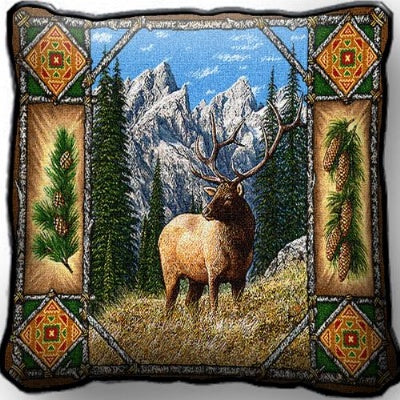 Elk Lodge Pillow (Pillow)