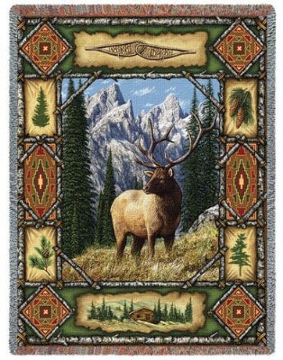 Elk Lodge Tapestry (Tapestry Throw)