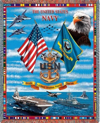Us Navy Sea Power (Tapestry Throw)