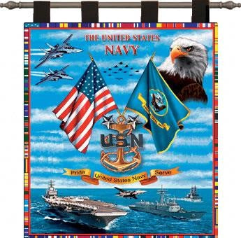 Navy Sea Power  (Wall Hanging with Wood Rod)