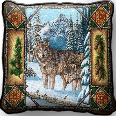Wolf Lodge Pillow (Pillow)