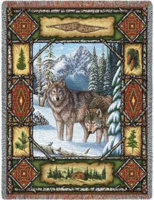 Wolf Lodge Tap (Tapestry Throw)