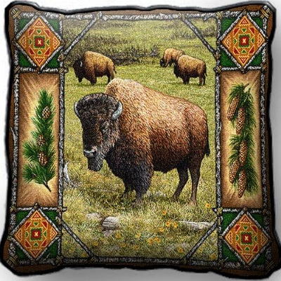 Buffalo Lodge Pillow (Pillow)