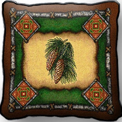 Pinecone Lodge Pillow (Pillow)