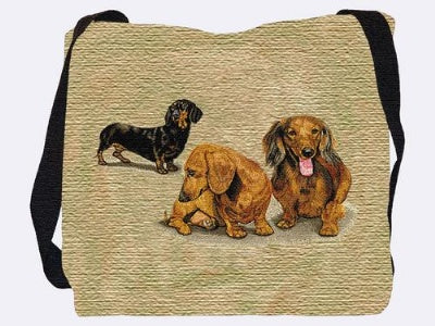 Dachshunds (3) (Tote Bag)