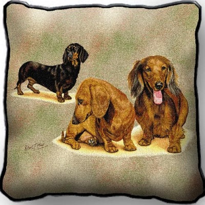 Dachschunds (3) Pill (Pillow)