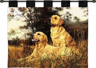 Golden Retriever  (Wall Hanging with Wood Rod)