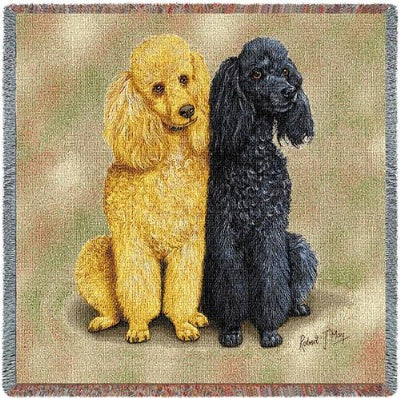 Poodles (2) (Tapestry Throw)