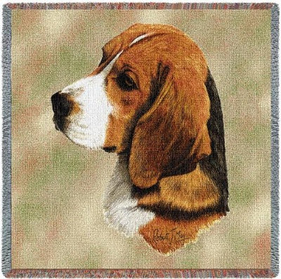 Beagle Lap Square (Tapestry Throw)