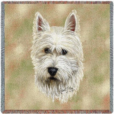 Westie Lap Square (Tapestry Throw)