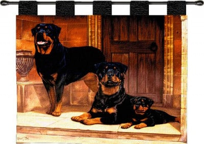 Rottweiler  (Wall Hanging with Wood Rod)