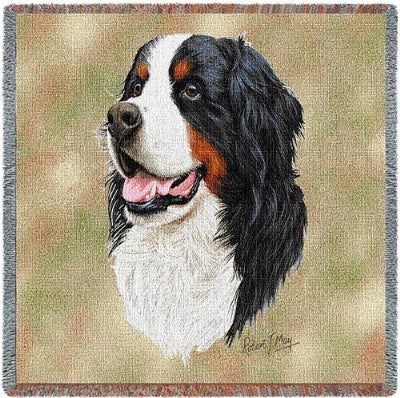 Bernese Mtn Dog (Tapestry Throw)