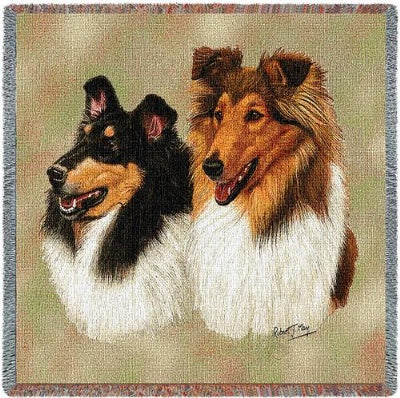 Collie Lap Square (Tapestry Throw)