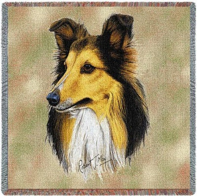 Sheltie Lap Square (Tapestry Throw)