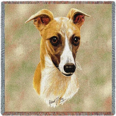 Whippet Lap Square (Tapestry Throw)