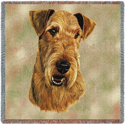 Airedale Lap Sq (Tapestry Throw)