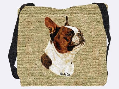 Boston Terrier Brown Bag (Tote Bag)