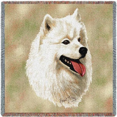 Samoyed Lap Square (Tapestry Throw)