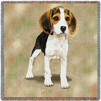 Beagle Puppies (Tapestry Throw)