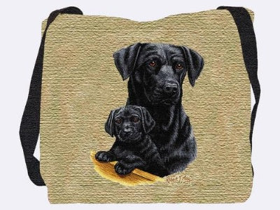 Black Lab Puppy pillow (Tote Bag)