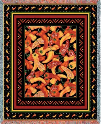 Chili Peppers (Tapestry Throw)