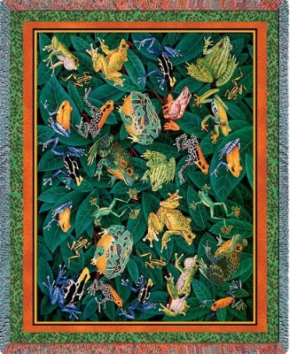Leap Frog (Tapestry Throw)