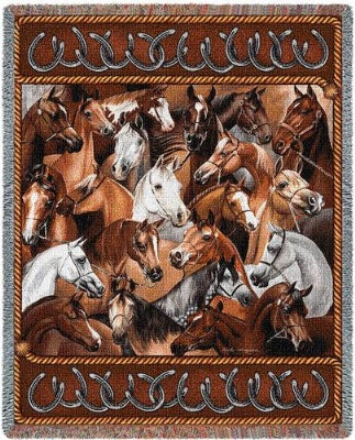 Bridled Horses (Tapestry Throw)