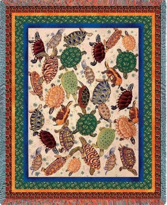 Turtles (Tapestry Throw)