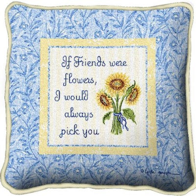 Friends With Flowers (Pillow)