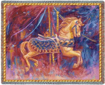 Carousel Horse (Tapestry Throw)