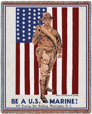 Be A Marine (Tapestry Throw)