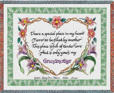 Grandmothers Tender Love (Tapestry Throw)