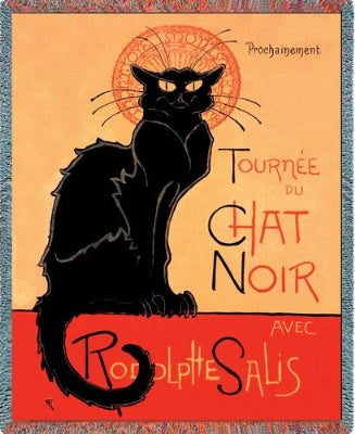 Tournee Chat Noir (Tapestry Throw)
