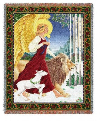 Angel & Lamb (Tapestry Throw)