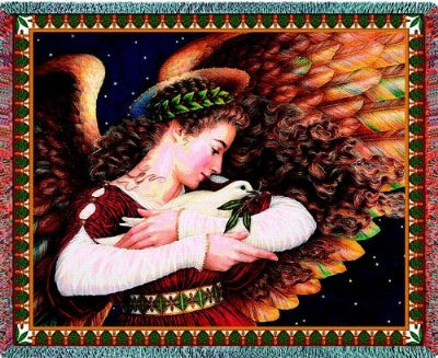 Angel & Dove (Tapestry Throw)