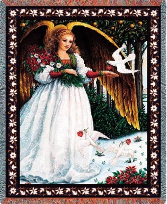 White Angel (Tapestry Throw)
