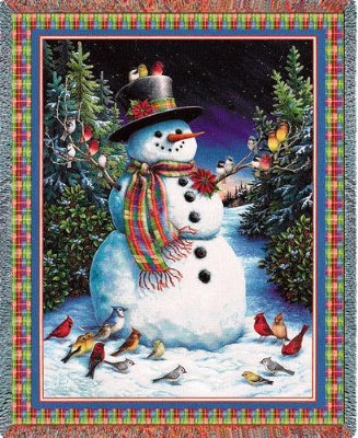 Plaid Snowman (Tapestry Throw)