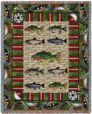 Gone Fishing (Tapestry Throw)