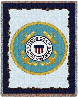 Us Coast Guard (Tapestry Throw)